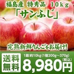 福島県産りんごサンふじ 10kg