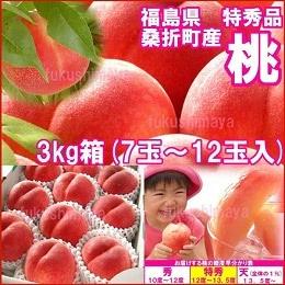 桑折町産 特秀品桃 3kg箱