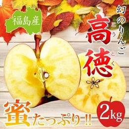 福島産 高徳りんご2kg