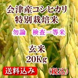 会津産コシヒカリ 玄米20kg