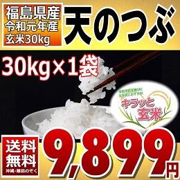 福島県産 天のつぶ 30kg