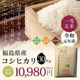 福島県産 コシヒカリ 30kg