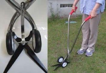 車輪付き草刈ばさみ「コロ刈る君A直」