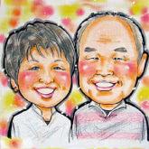 成長記念や想い出の一枚に似顔絵色紙のプチギフト