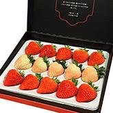 新潟ブランド苺「越後姫」と桃の様な新品種「桃薫」