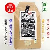 十日町産魚沼コシヒカリ 特別栽培米 白米5kg