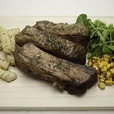 温めればすぐ食べられる味噌ベースの味付け骨付き肉