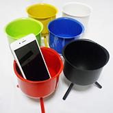カラフルなスマートフォン用無電源スピーカー