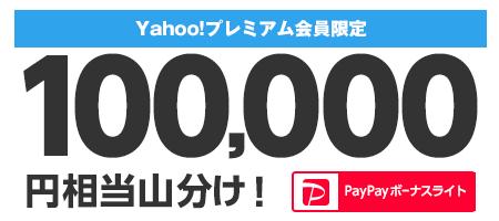 プレミアム会員限定 PayPayボーナスライト100,000円相当山分け