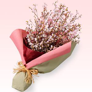 花キューピットのさくらの花束