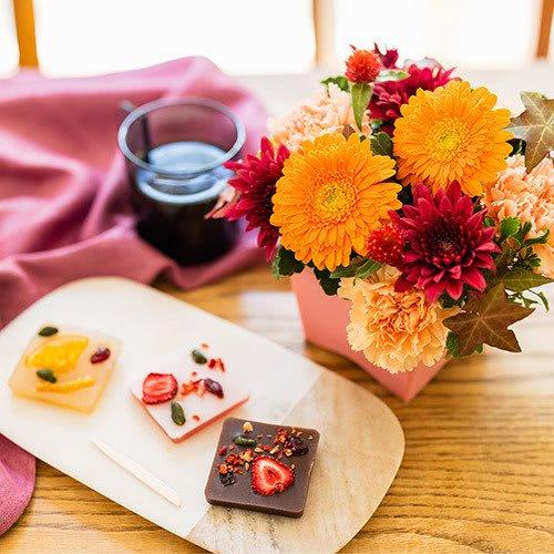 和菓子とお花のセット