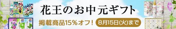 花王のお中元ギフト 掲載商品15%オフ! 8月15日(火)まで