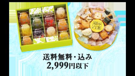 送料無料・込み 2,999円以下