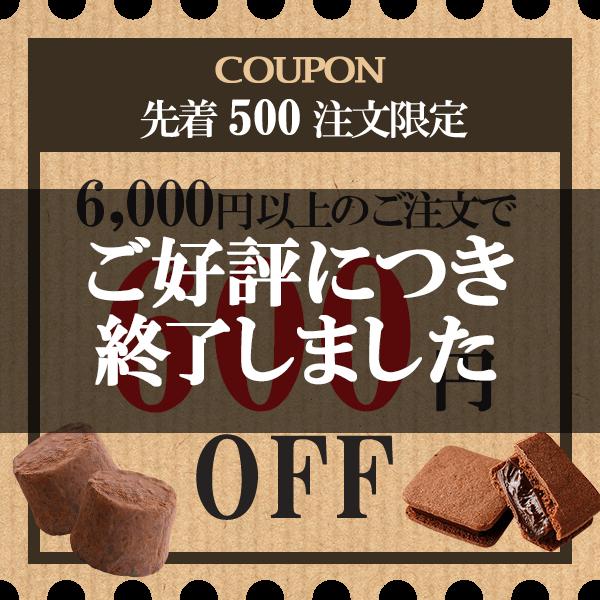 クーポン 先着500注文限定 6,000円以上のご注文で600円OFF