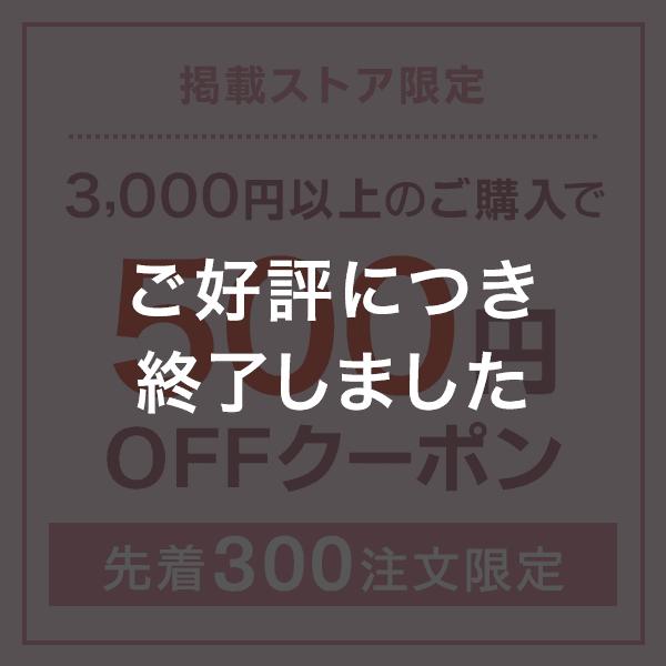 掲載ストア限定 3,000円以上のご購入で500円OFFクーポン 先着300注文限定