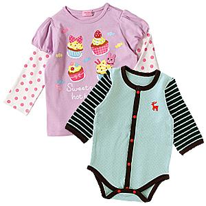 赤ちゃん服をサイズで探す