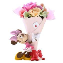ディズニーキャラクターと花を贈る