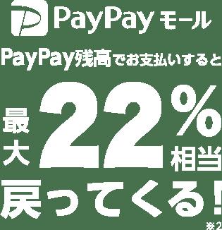 PayPayモール PayPay残高でお支払いすると最大22%相当戻ってくる ※2