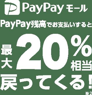 PayPayモール PayPay残高でお支払いすると最大20%相当戻ってくる ※2