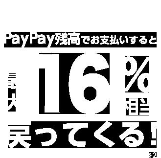 Yahoo!ショッピング PayPay残高でお支払いすると最大16%相当戻ってくる ※2