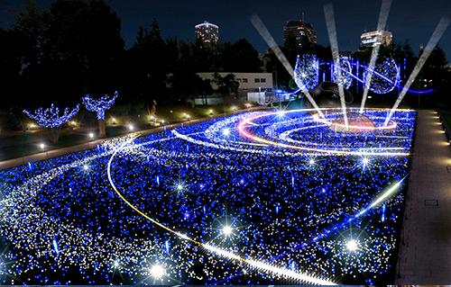 六本木・東京ミッドタウンのイルミネーションイメージ