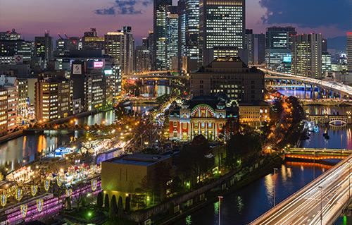 みなとみらい・横浜赤レンガ倉庫のイルミネーションイメージ