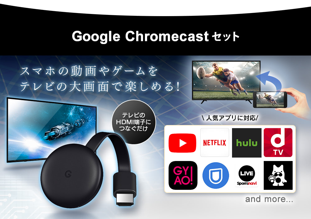 GoogleChromecastset
