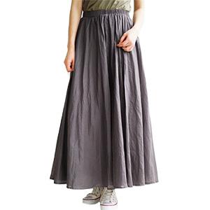 マキシ丈スカート 綿100%