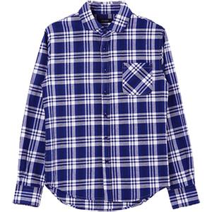 メンズ カジュアルシャツ 綿麻 パナマ織り