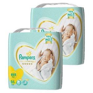 パンパース おむつ テープ 新生児(~5kg) 1セット(84枚入×2パック) はじめての肌へのいちばん P&G