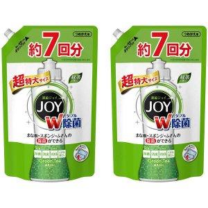 除菌ジョイコンパクト JOY 緑茶の香り 詰め替え 超特大 1065ml 1セット(2個入) 食器用洗剤 P&G