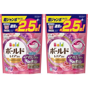ボールド ジェルボール3D プレミアムブロッサム 詰め替え 超ジャンボ 1セット(2個:88粒入) 洗濯洗剤 P&G