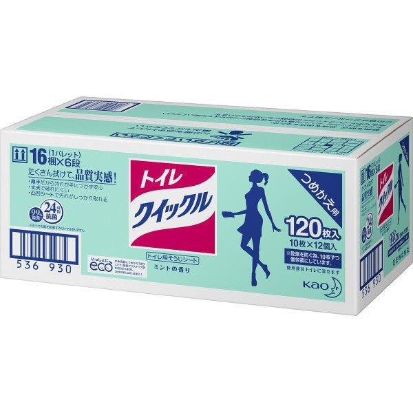 トイレクイックル詰替 業務用パック ミントの香り 1箱(10枚×12個入)花王
