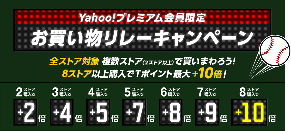 Yahoo!プレミアム会員限定 お買い物リレーキャンペーン