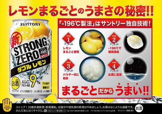 STRONG ZERO ダブルレモン レモンまるごとのうまさの秘密!