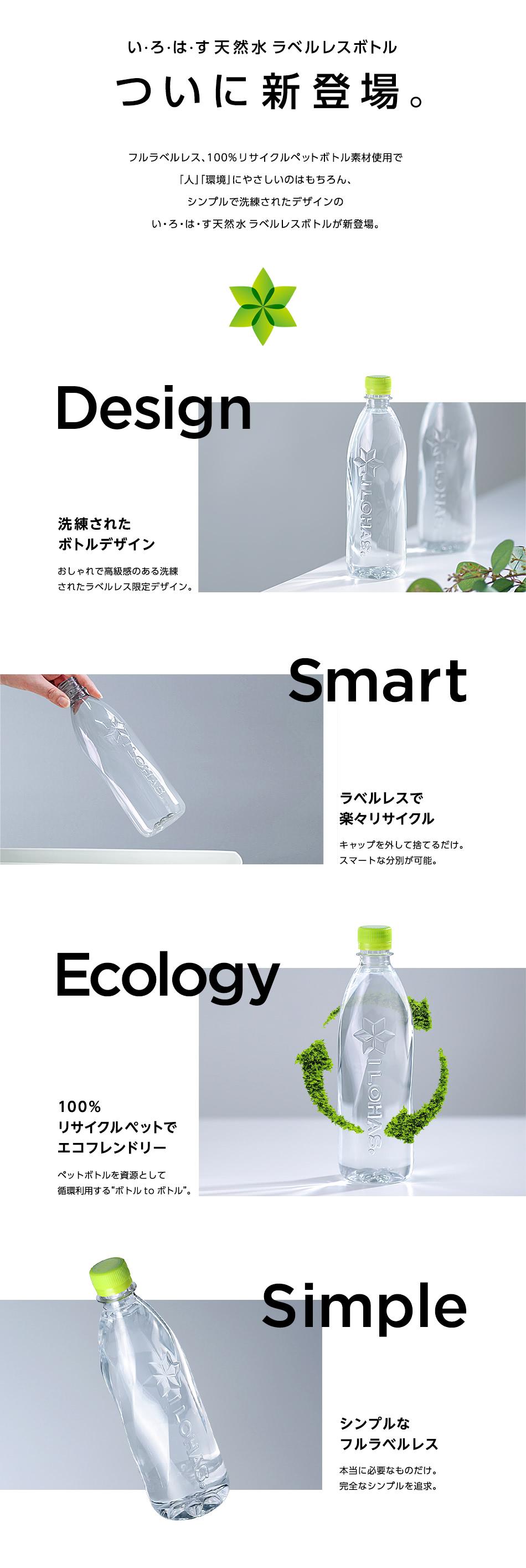 い・ろ・は・す天然水 ラベルレスボトル ついに新登場。