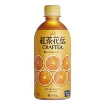 紅茶花伝 クラフティー 贅沢しぼりオレンジティー 440mlPET