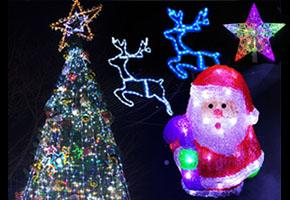 クリスマスを鮮やかに彩るモチーフイルミネーション達