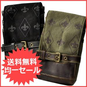 キャンバス生地&合皮使用のシザーバッグ