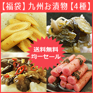 『九州のお漬物』たっぷり彩り4種セット