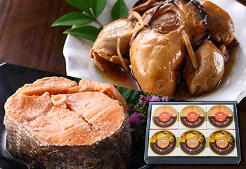 宮城県産 牡蠣・銀鮭缶詰 2種6缶セット