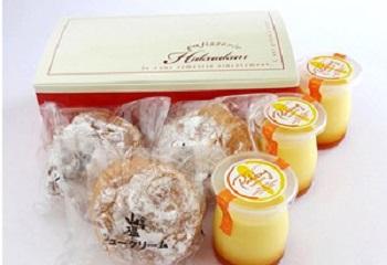 会津山塩のシュークリームとプリンのセット