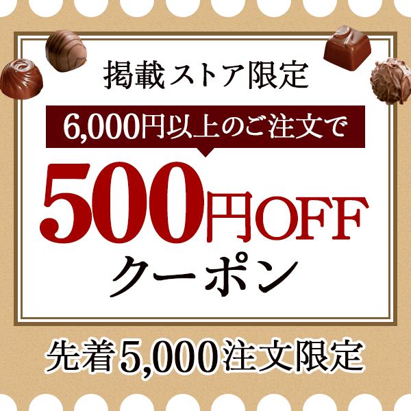 掲載ストア限定 6,000円以上のご注文で500円OFFクーポン 先着5,000注文限定