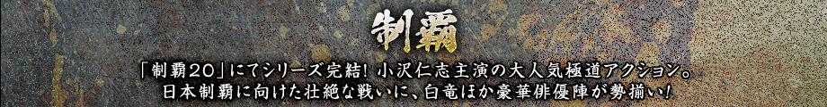制覇「制覇20」にてシリーズ完結!小沢仁志主演の大人気極道アクション。日本制覇に向けた壮絶な戦いに、白竜ほか豪華俳優陣が勢揃い!