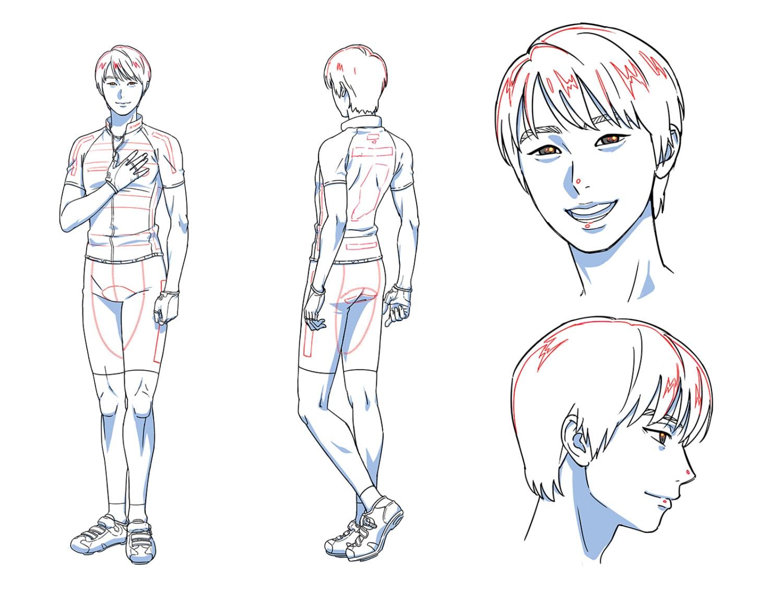 渡辺航さん描き下ろしのサイクルジャージを着た羽生結弦選手のイラスト