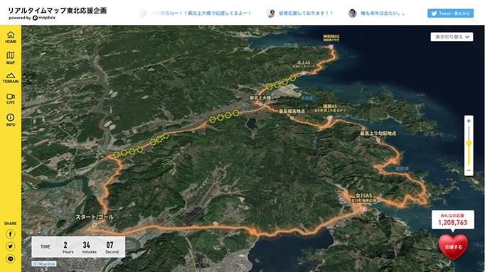 リアルタイム東北企画画面イメージ
