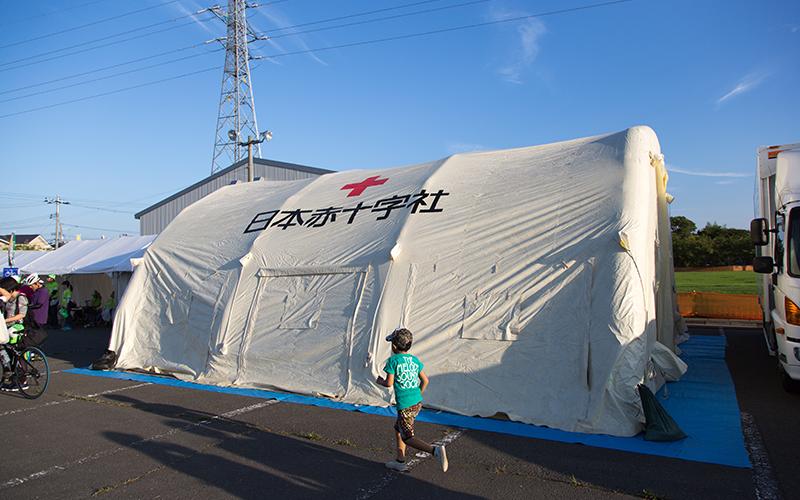 石巻赤十字病院のテント