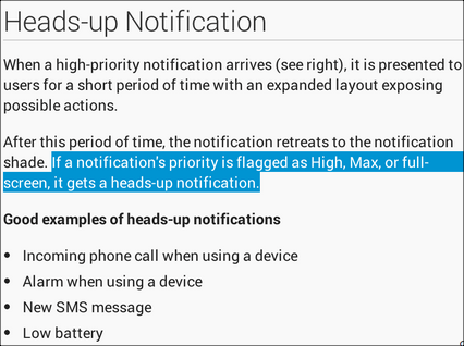 Notification Docs