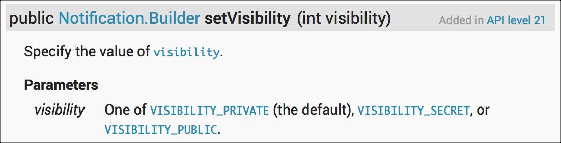 setVisibility