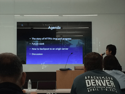 HTTP/2 セッションの発表風景